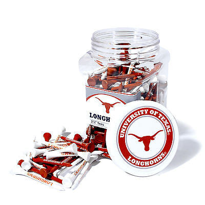 NCAA Texas Longhorns Golf Tee Jar 175 Count Club Course Driver Team Accessory