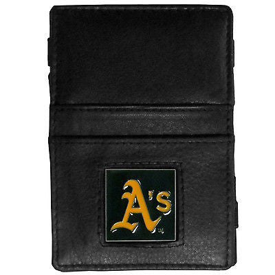 MLB Oakland Athletics Jacobs Ladder Wallet Leather Magic Cash Holder