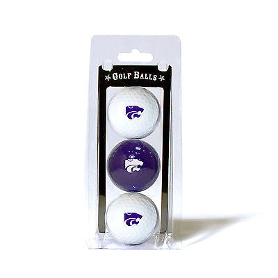 NCAA Kansas State Wildcats Regulation Golf Balls 3 Pack Sleeve Putting Club 3