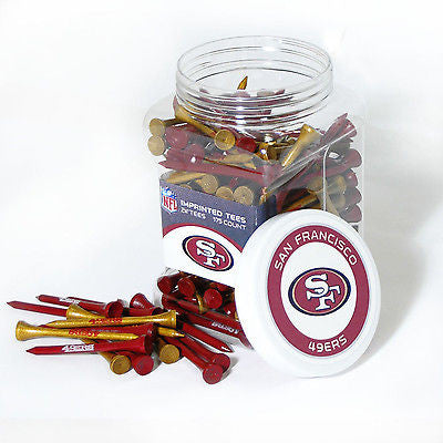 NFL San Francisco 49ers Golf Tee Jar 175 Count Club Course Driver Team Accessory