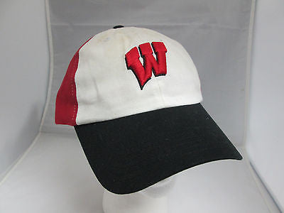 NCAA Wisconsin Badgers Red Adjustable Retro Vintage Hat Cap