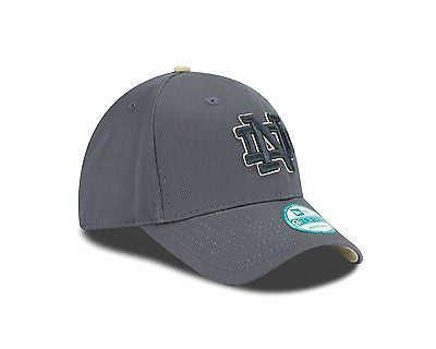 NCAA Notre Dame Irish Hat Cap Graph Pop Gray The League New Era 9Fifty Graphite