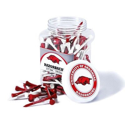 NCAA Arkansas Razorbacks Golf Tee Jar 175 Count Club Course Driver Team Tees