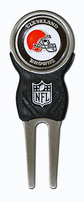NFL Cleveland Browns Signature Golf Divot Tool and Ball Marker Enamel Team