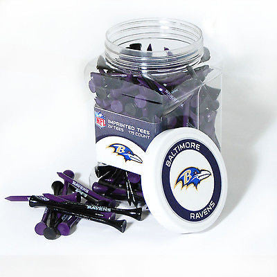 NFL Baltimore Ravens Golf Tee Jar 175 Count Club Course Driver Team Accessory