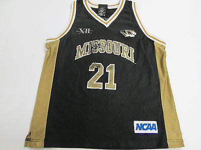 NCAA Missouri Tigers MU Black #21 Basketball Youth Kids Jersey Shirt 10