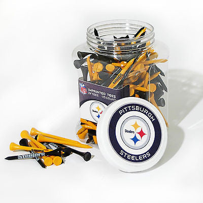 NFL Pittsburgh Steelers Golf Tee Jar 175 Count Club Course Driver Team Accessory