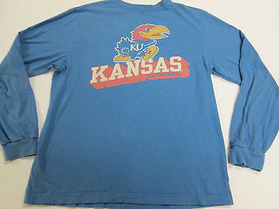 NCAA Kansas KU Jayhawks Blue Youth Kids Toddler T-Shirt Team Shirt 20