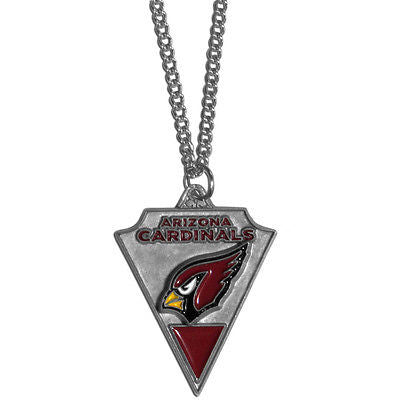 "NFL Arizona Cardinals Classic Chain Necklace Team Pendant 20"" Triangle Jewelry"