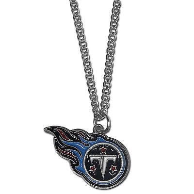 "NFL Tennessee Titans Necklace With Team Pendant 20"" Chain Gameday Jewelry"