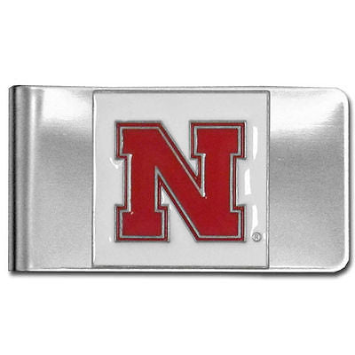NCAA Nebraska Cornhuskers Money Clip Stainless Steel Cash Holder 3D Emblem