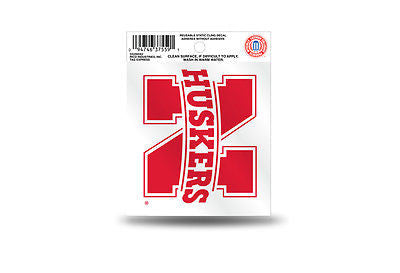 NCAA Nebraska Cornhuskers Static Window Cling Sticker Team Logo Decal