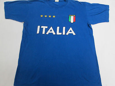 Italy Italia National Team Futbol Soccer BlueT-Shirt Team Shirt 15