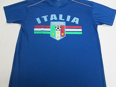 Italy National Team Italia Blue Futbol Soccer Jersey Shirt 8