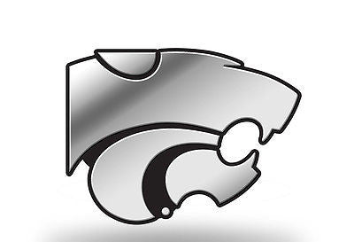 NCAA Kansas State Wildcats 3D Chrome Auto Emblem Silver Molded Car Decal