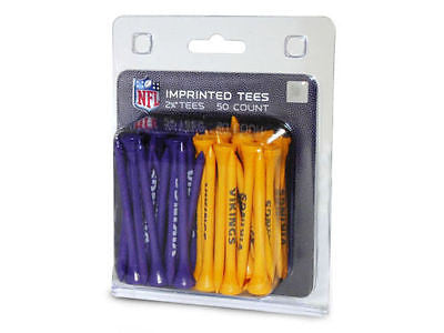 NFL Minnesota Vikings Regulation Golf Tees 50 Pack Club Accessory Driver Tee