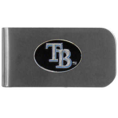 MLB Tampa Bay Rays Bottle Opener Money Clip Metal Cash Holder Emblem