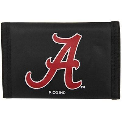NCAA Alabama Crimson Tide Velcro Wallet Nylon Tri Fold Cash Holder Accessory