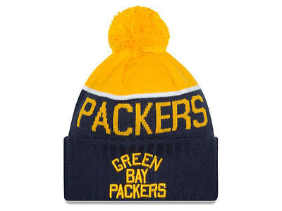 NFL Green Bay Packer New Era Classic Sport Knit Hat Beanie SKi Cap 2015 Sideline