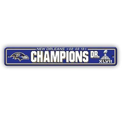 NFL Baltimore Ravens Super Bowl Champions XLVII Street Sign Dr Parking Car Auto