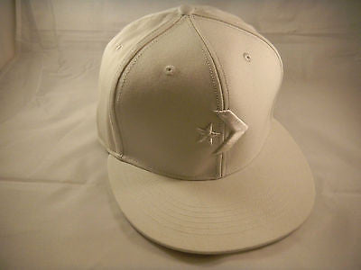 Converse Fitted White Hat Cap 7 1/4 Skateboarding Snowboarding All Star Skate