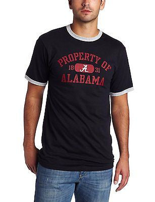 NCAA Alabama Crimson Tide Ringer T-Shirt Tee Black New Football 1831