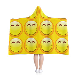 Smiley Hooded Blanket Cape-All Over Prints-Pickled Peppa