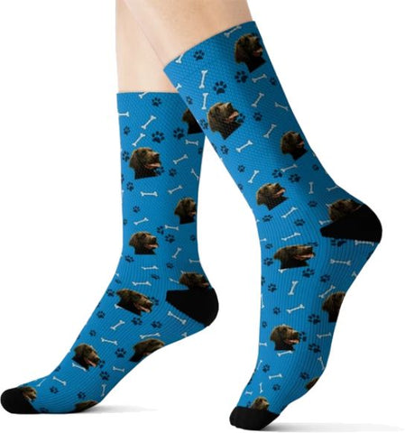 PuppyLove Socks (With Free Shipping)-All Over Prints-Pickled Peppa