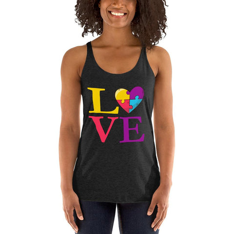 Autism Is Love Ladies Tank Top-Ladies Clothing-Pickled Peppa