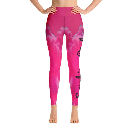 Smoking Pink 501 Yoga Leggings-Leggings-Pickled Peppa