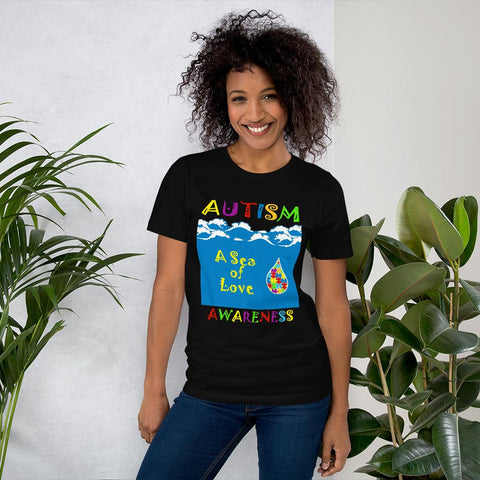 Autism - A Sea of Love Unisex T-Shirt-T-Shirts-Pickled Peppa