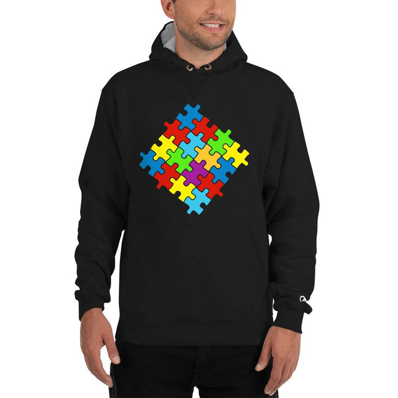 Champion S171 Cotton Max Hoodie with Puzzle Emblem-Hoodies-Pickled Peppa