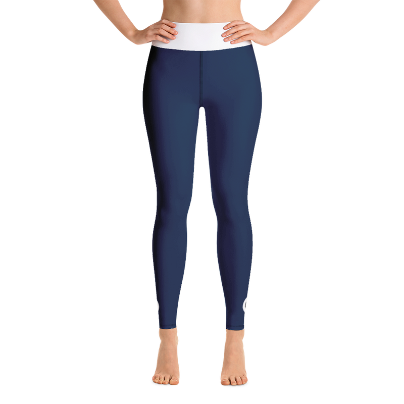 Spiren Kafe 282 Dark Blue Yoga Leggings-Leggings-Pickled Peppa