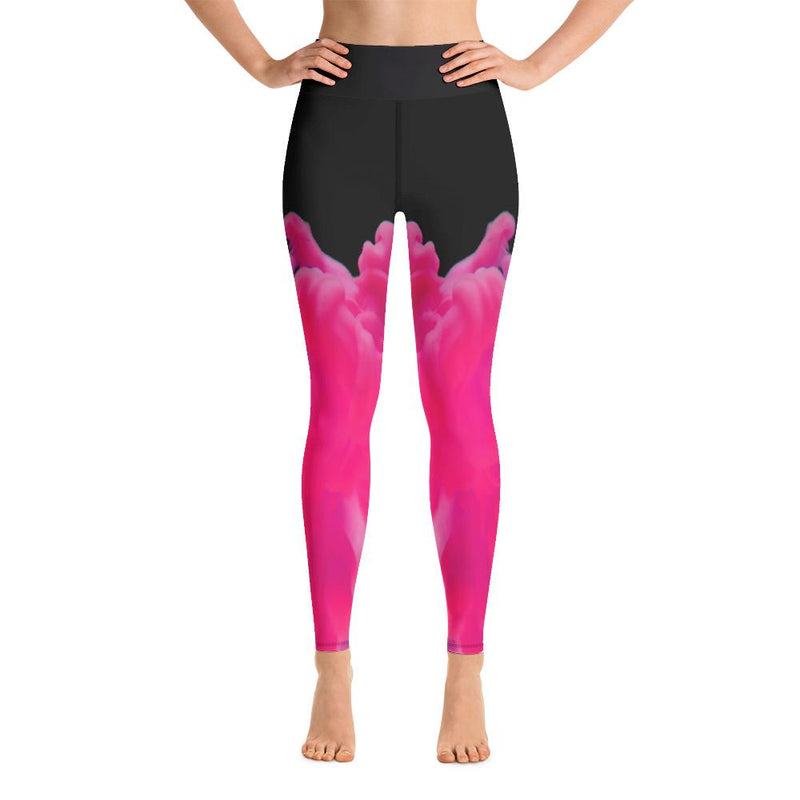 Smoking Pink Yoga Leggings-Leggings-Pickled Peppa