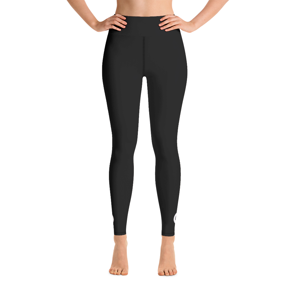 Spiren Kafe 6C Black Yoga Leggings-Leggings-Pickled Peppa