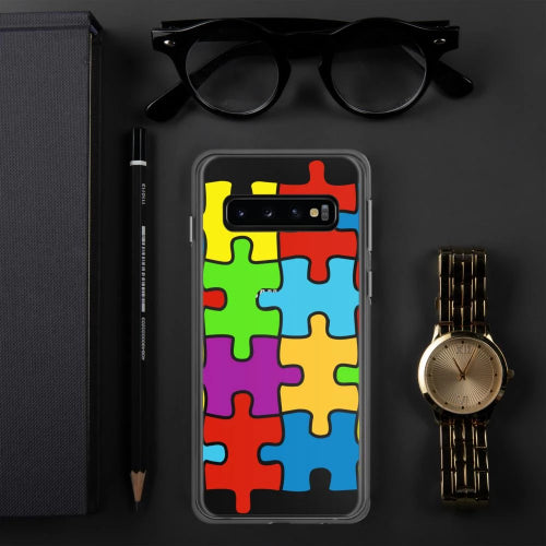 Samsung Phone Selection with Puzzle Design-Phone Case-Pickled Peppa