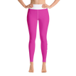 #Fit Chicks & Lipsticks Pink Yoga Leggings-Leggings-Pickled Peppa