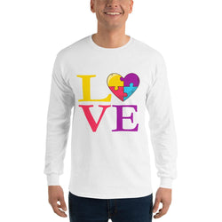 Autism Is Love Long Sleeve T-Shirt-Long Sleeve Tops-Pickled Peppa