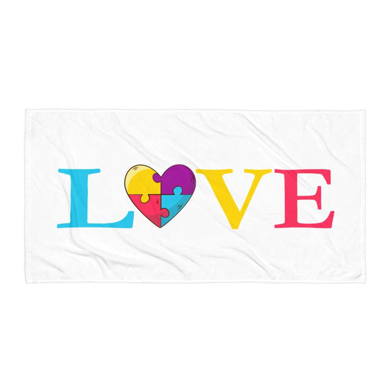 Towel with LOVE emblem-Towels-Pickled Peppa