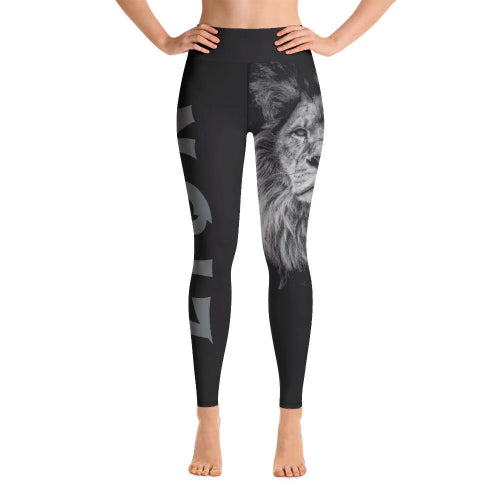 Lion Printed Yoga Leggings-Leggings-Pickled Peppa