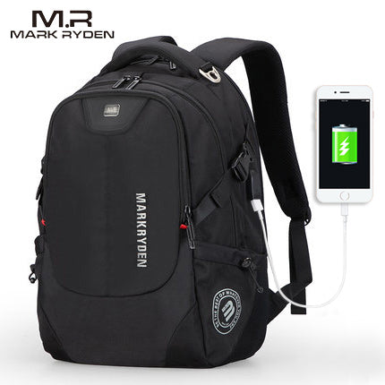 Men's Fashionable Backpack with Multifunction USB Charging-Bags-Pickled Peppa