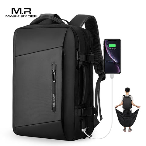 Superior 17 inch laptop waterproof backpack with USB charging and Anti-Theft Design-Bags-Pickled Peppa