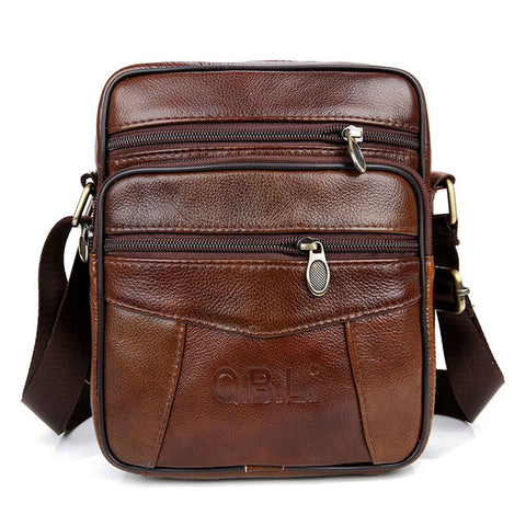 Gentlemen's Genuine Leather Shoulder Bag - ebuzzstore.com