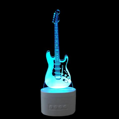 High quality 3D Guitar Night Light with Bluetooth and Remote control-Pickled Peppa