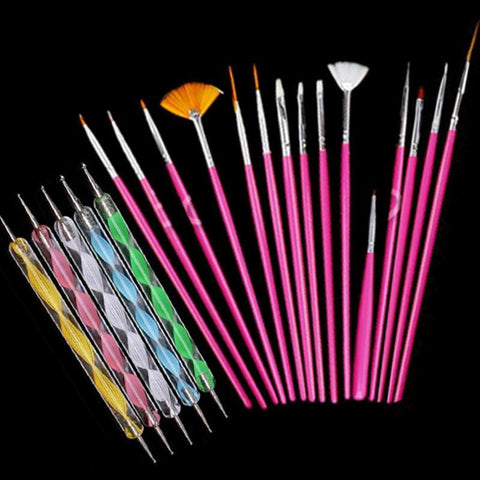 Professional Nail Art Tool Kits For Serious Nail Art Enthusiasts 20pcs/set - ebuzzstore.com