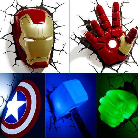 Best Avengers 3D LED Wall Lamps-Trends-Pickled Peppa