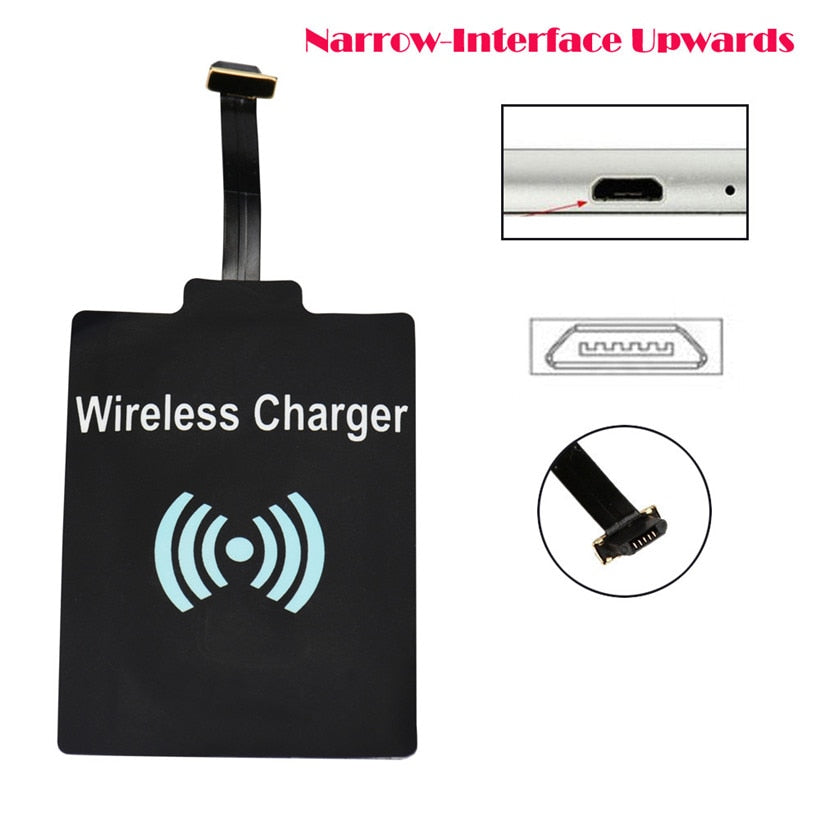 Universal Qi Wireless Phone Charging Receiver Pad For Micro USB-Charging receiver-Pickled Peppa