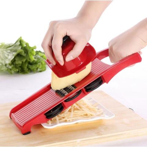 Vegetable Mandoline Slicer With Six Stainless Steel Blades-KITCHEN-Pickled Peppa