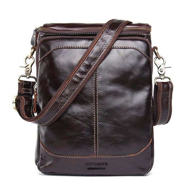 The Retro Mens Genuine Leather Shoulder Bag-Bags-Pickled Peppa