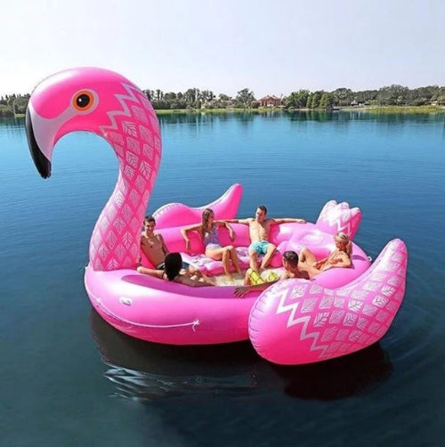 2019 - 6 Person GIANT inflatable Flamingo-Trends-Pickled Peppa
